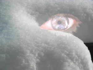 schnee Auge