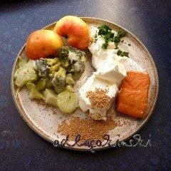 ☕ Rezept: Stremellachs, Brokkoli, Apfel, Senfkörner, Kresse mit Frischkäse Kulturmagazin 8ung.info Elke Wilkenstein