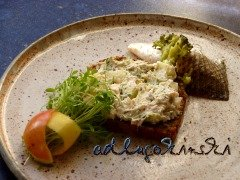☕ Rezept: Stremellachs, Brokkoli, Apfel, Senfkörner, Kresse mit Frischkäse | Kulturmagazin 8ung.info