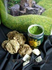Kekse: Eiweiß-Schnee, grüner Tee, Aloe Vera, Mandeln