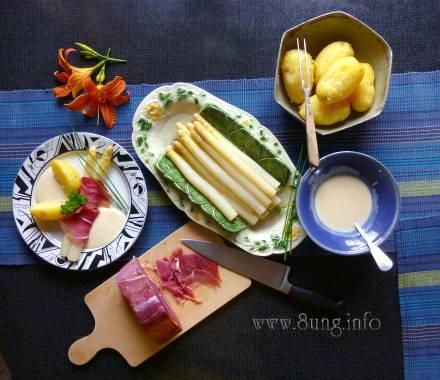 ☕ Bild des Tages: Spargel, Schinken und neue Kartoffeln | Kulturmagazin 8ung.info