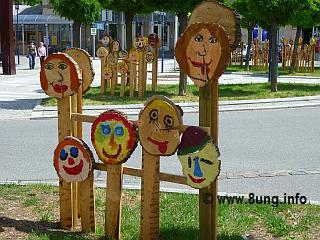 Holzköpfe von Metzingen - Kinder-Kunst-Ausstellung | Kulturmagazin 8ung.info
