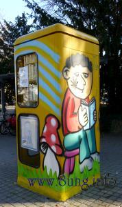 Mini-Bibliothek - Öffnungszeiten täglich von 0 bis 24 Uhr