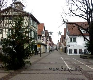 Graue Wolkendecke in Kirchheim