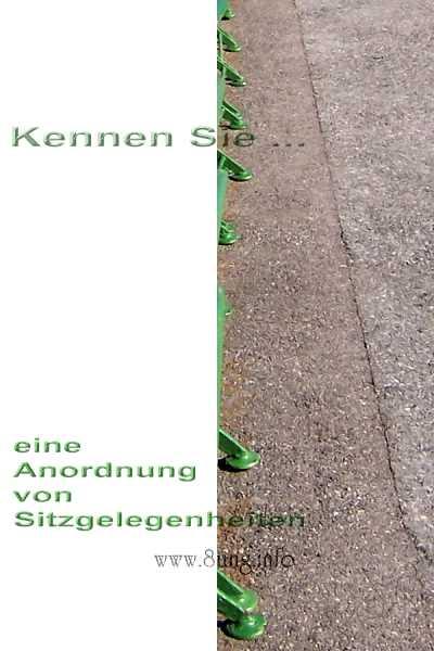 ❢  3. Rätsel für UmdieEckeDenker: Sitzgelegenheiten Kulturmagazin 8ung.info Gesine Bodenteich