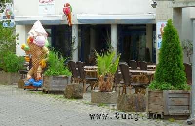 Eiscafe ohne Gäste