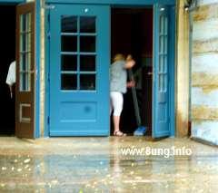 Wasser im Foyer des Bayreuther Festspielhauses