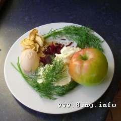 ☕ Rezept: Rote Bete, Apfel, Ei, Dill, Senfkörner mit Frischkäse | Kulturmagazin 8ung.info