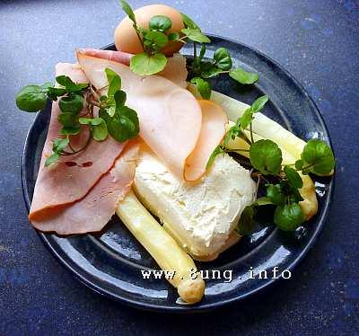 Frischkäse-Rezepte mit Spargel, Ei, Schinken, Brunnenkresse