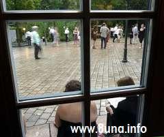 Blick aus dem Fenster des Bayreuther Festspielhauses