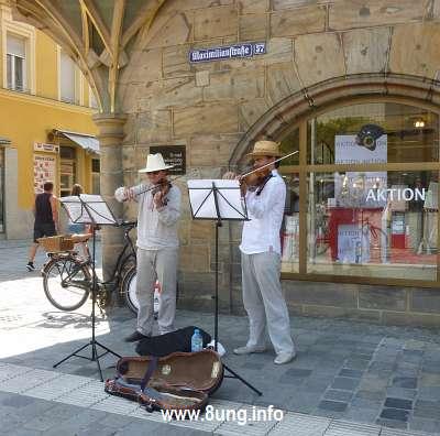 ♫ Strassenmusik vom Feinsten in Bayreuth | Kulturmagazin 8ung.info