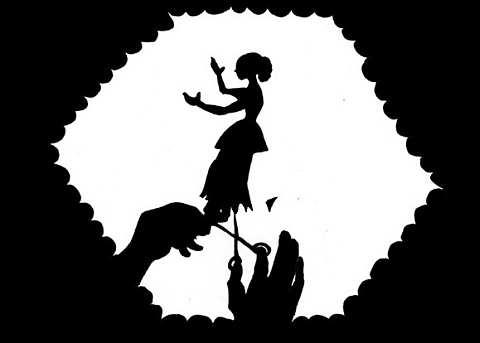 Scherenschnitt von Lotte Reininger, Stummfilm von 1922