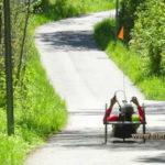 Liege-Rad auf dem Weg durch die grüne Natur3