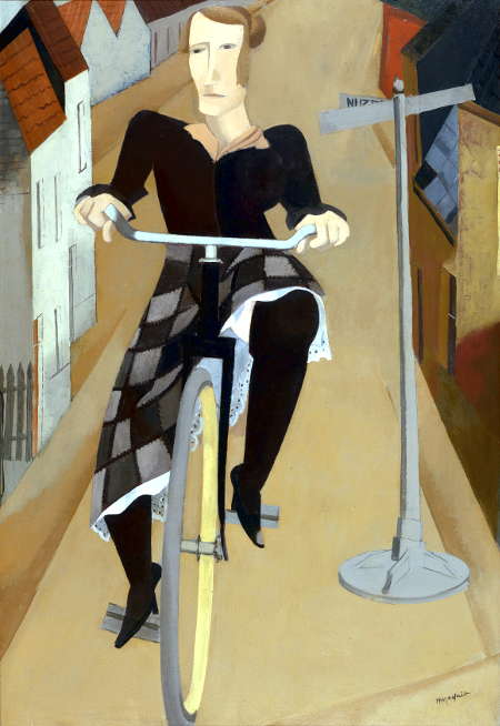 Hubert Malfait Woman on a Bicycle, 1927 Oil on canvas, 120 x 82 cm The Phoebus Foundation © SABAM BELGIUM 2017