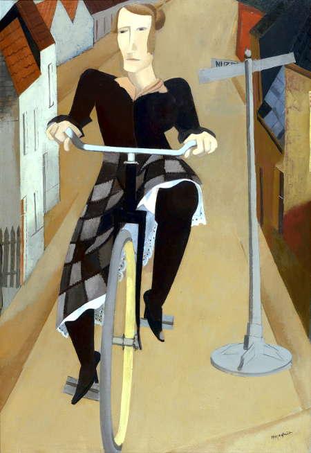Hubert Malfait Woman on a Bicycle, 1927 Oil on canvas, 120 x 82 cm The Phoebus Foundation © SABAM BELGIUM 2017