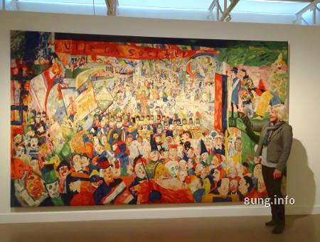 Wandteppich von James Ensor im MuZee in Ostende/Belgien