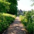 Weg zu Goethes Gartenhaus in Weimar