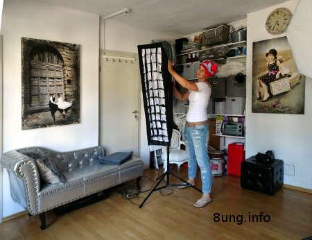Fotografin in ihrem Atelier