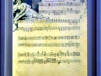 """""""Januar"""", Komposition aus dem """"Jahreszeitenzyklus"""" von Fanny Hensel mit einer Vignette von Wilhelm Hensel"""
