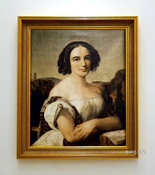Fanny Hensel, gemalt von Wilhelm Hensel