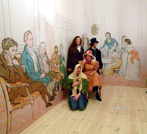 Fanny Hensel im Mendelssohn-Haus in Leipzig: Familienfoto vor Biedermeier-Kulisse