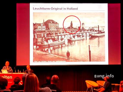 Leuchtturm an der Mündung des Rheins in Holland