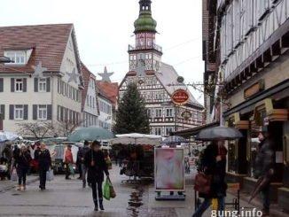 Regen auf der Marktstrasse