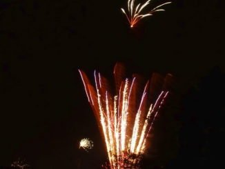 Feuerwerk in der Neujahrsnacht