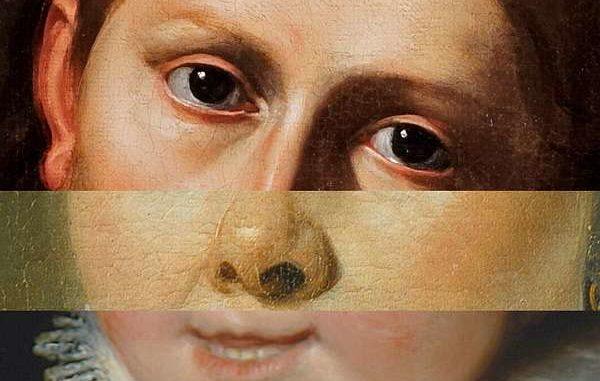 Fotomontage: Gesicht aus 3 klassischen Portraits