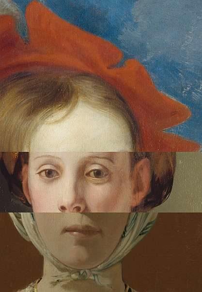 Fotomontage: Drei zufällig ausgewählte Gesichter ergeben ein Einziges