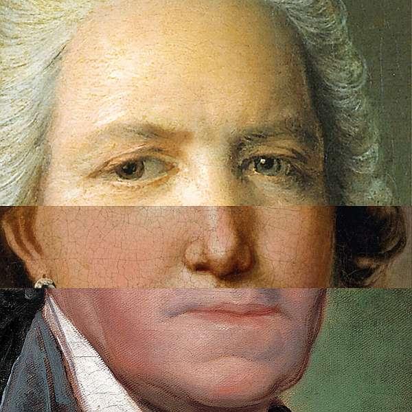 Fotomontage aus 3 zufällig ausgewählte Gesichtspartien ergeben ein Ganzes