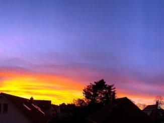 Sonnenuntergang in Bonbonfarben