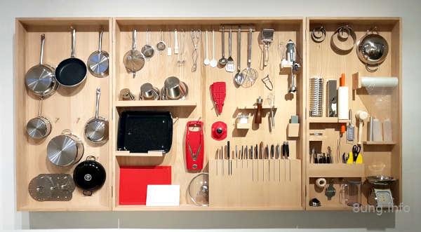 Werkzeugschrank mit Küchenutensilien