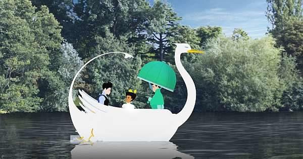 Im Schwanenboot auf der Seine