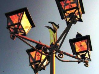 blick werfen zur Lampe