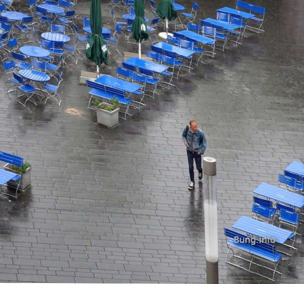 Regenwetter Strassenwirtschaft