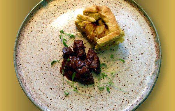Rezept: Hühnerleber in Portweinsauce mit Kürbis-Quiche