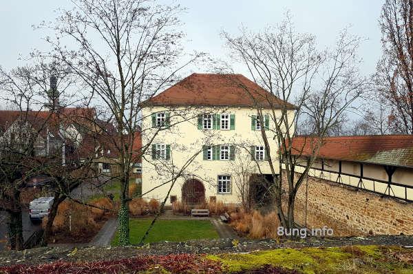 Monatswetter 2020 Februar: Blick von der Bastion auf das alte Vogthaus in Kirchheim/Teck