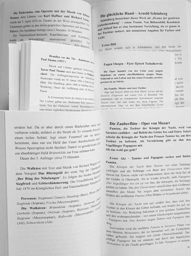"""Buch aufgeschlagen """"Aida bis Zauberflöte"""""""