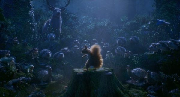 maestro: trickfilm beim Schlussakkord, Chor der Waldtiere