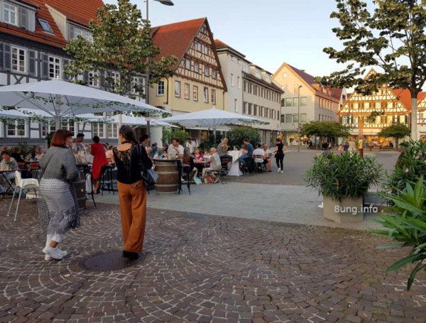 Restaurant auf dem Marktplatz