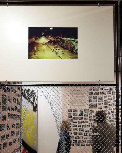 Graffiti im Stadtpalais - Ausstellung mit Maschendraht