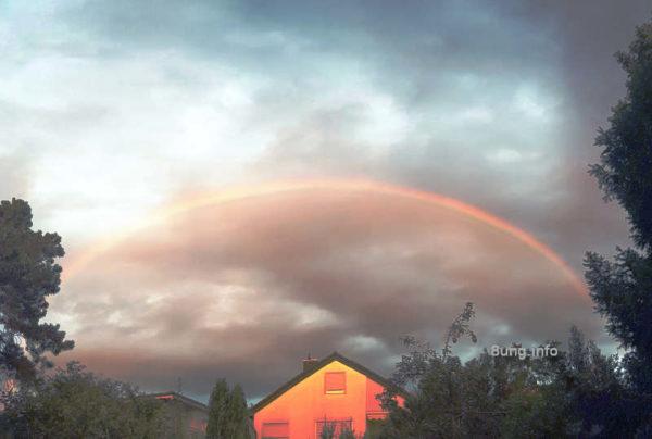 Wetter im Oktober 2020 - goldener Regenbogen