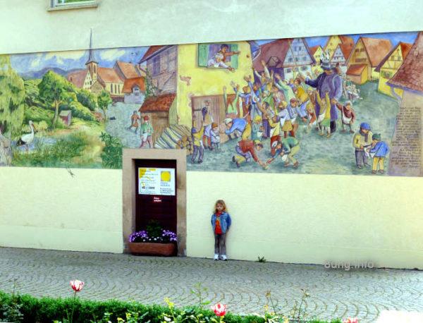 Wandbild in Haslach im Kinzigtal