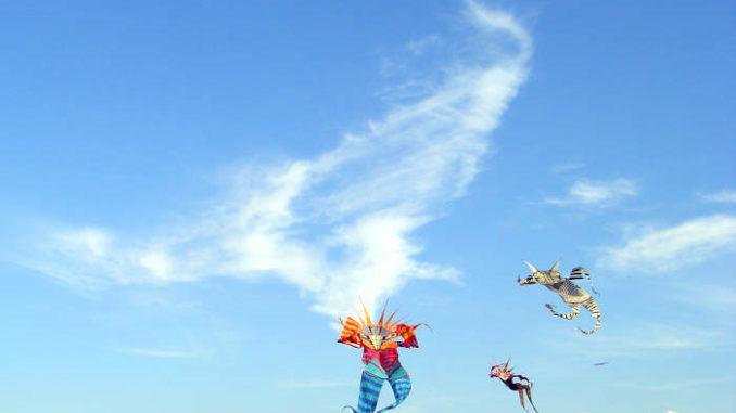 Drachen im Herbstwind