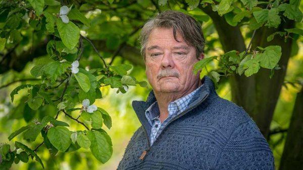 Altes Land: Hinni (Peter Kurth) steht unter einem Baum und blickt traurig ins Leere.