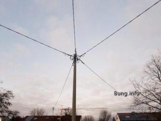 Stromleitungen treffen zusammen