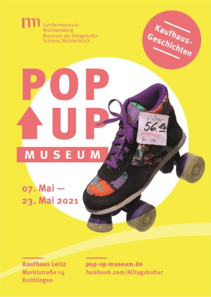 Keyvisual Pop-up-Museum Knittlingendes Museums der Alltagskultur – Schloss Waldenbuch© Landesmuseum Württemberg