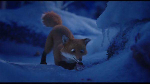 """Trickfilm """"Tomte und der Fuchs"""" Der Fuchs hat eine Maus gefangen (c) Yaprak Morali"""