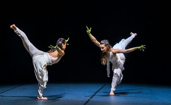 Vanessa Vince-Pang and Natalie Alleston in Phoenix Dance Theatre and Opera North's The Rite of Spring choreographed by Jeanguy Saintus. © Tristram Kenton